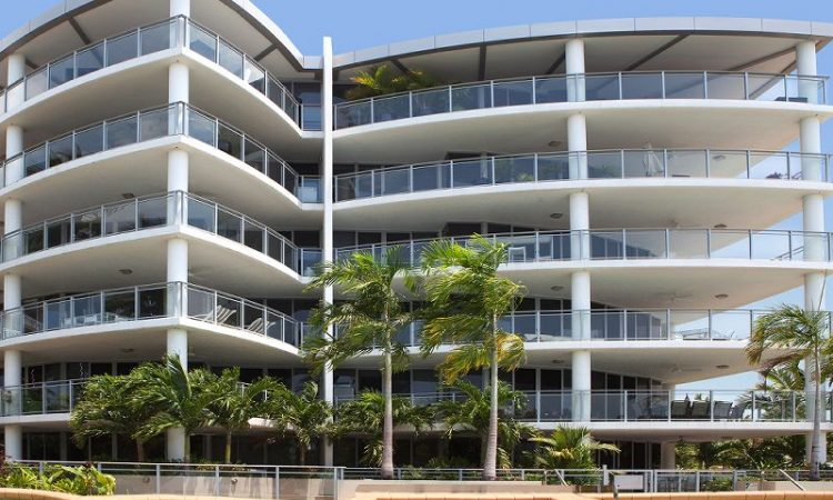 Vision Cairns Building Frontage with apartment balconies
